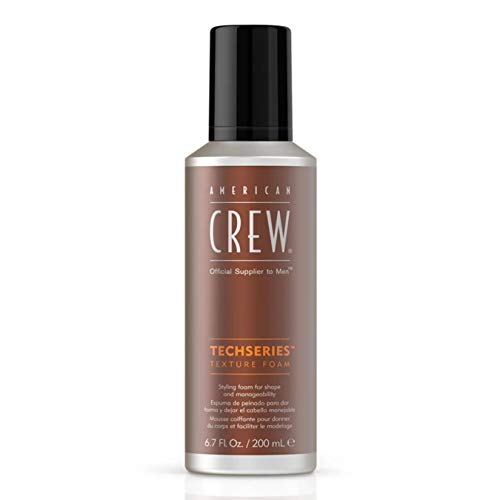 AMERICAN CREW TECHSERIES TEXTURE FOAM Stylingschaum Flexibler Halt,1er Pack (1 x 200 ml)