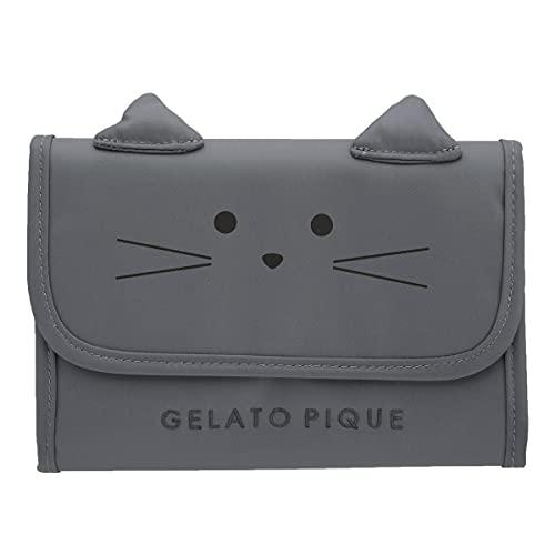 (ジェラートピケ)gelato pique CAT母子手帳ケースS ジェラピケ ジャバラ(GY-グレー、Free)