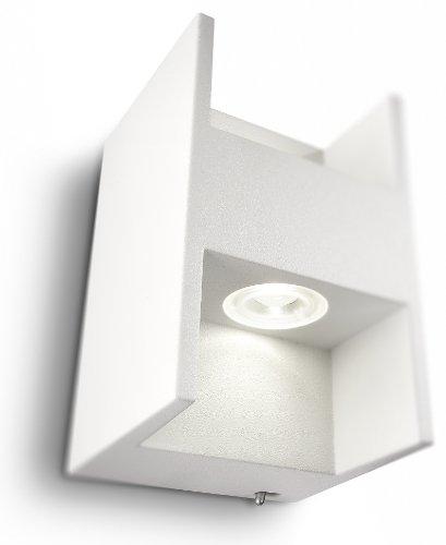 Philips Ledino Applique LED Aluminium Blanc 2 x 25 W