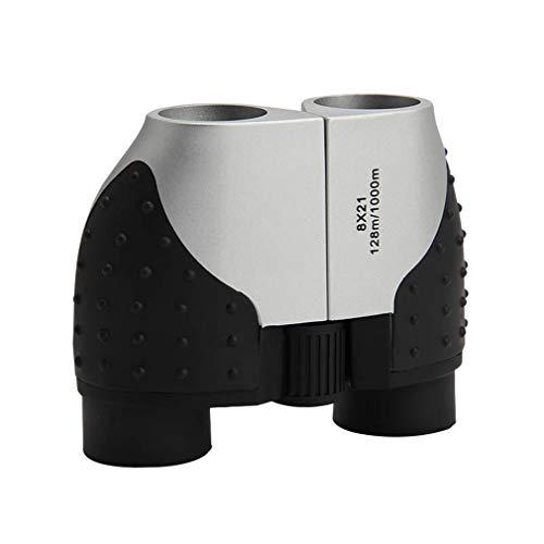 PIGE Jumelles Full-HD de Taille Basse Vision Nocturne Optique Télescope Matériel métallique Imperméable à l'eau Anti-buée BAK4 Prisme Observation d'oiseaux (Taille : 8X21)