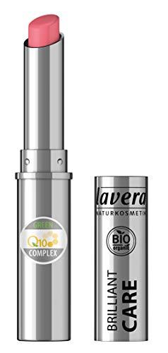 lavera Beautiful Lips Brilliant Care Lippenstift Q10 -Strawberry Pink 02- Lipstick ∙ Intensive Pflege Naturkosmetik Natural Make-up Bio Pflanzenwirkstoffe 100% natürlich 3er Pack (3x 1.7 g)