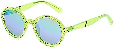 Diesel Unisex Sunglasses DL026495Q48 - Light Green/Green Mirror - Injected