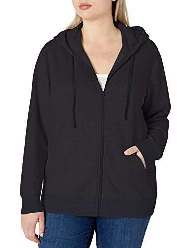 Amazon Essentials Plus Size French Terry Fleece Full-Zip Fashion-Hoodies, schwarz, 1X