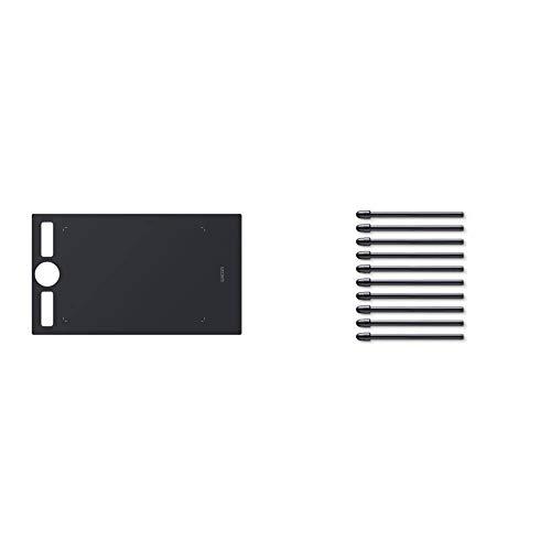 Wacom Ack122211&Nbsp; Texture Sheet (Size: m) Smooth Black & ACK22211 Standard Tip Kit for Pro Pen 2, Black