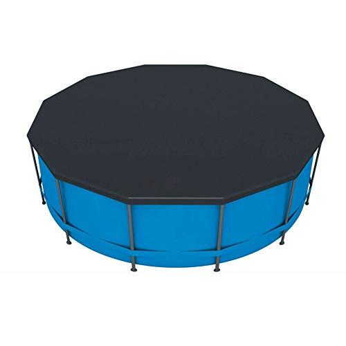Koet Pool-Abdeckung, 3 m, rund, Solar-Abdeckung für oberirdischen Pool, einfache Montage, Anti-Staub, Planschbecken, Schutz mit Seilbändern für Frame Pool, nicht null, Schwarz , Free Size
