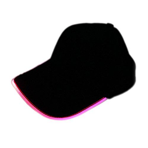Novo(TM) - Gorra de béisbol LED para fiesta, rosa, talla única