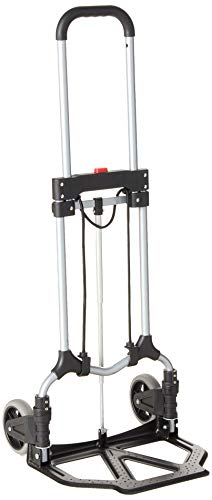 Magna Cart S-SB Ideal Personal MCI Folding Steel Hand Truck, Silver/Black