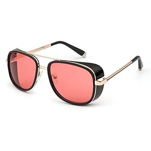 NBJSL Gafas De Sol Redondas De Moda Para Hombres Y Mujeres Con Protección Uv400 Gafas De Sol Vintage (Caja De Embalaje Exquisita)