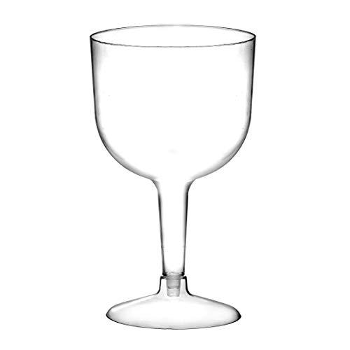 Vasos grandes de plástico para cóctel, 745ml, juego de 20, de dos piezas, vasos desechables.