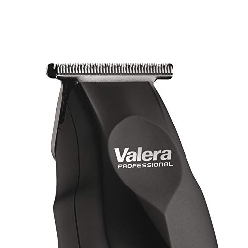 Valera Professioneller kompakter Haarschneider Absolut Zero 658.01, 42 mm breite Klingen für minimale Schnittlänge 0,1 mm, kabellos und Netzbetrieb, schwarz