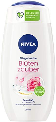 NIVEA Blütenzauber Pflegedusche (250 ml), zart duftendes Duschgel mit samtweichem Schaum, reichhaltige Cremedusche mit wertvollem Mandel-Öl