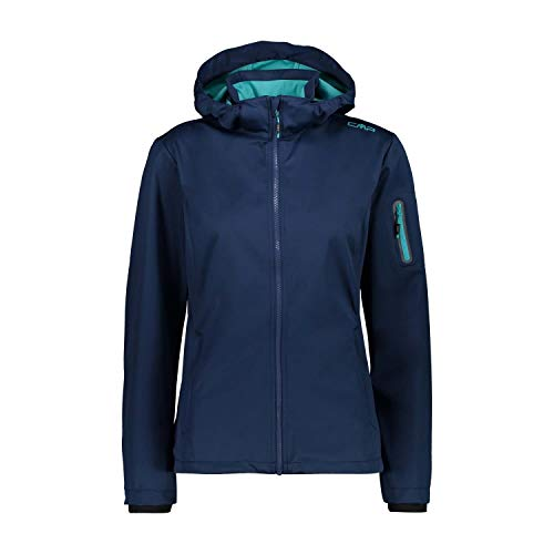 CMP Damen Windproof and Waterproof Lightweight Softshell Jacket WP 8.000 Jacke, Blue, D38