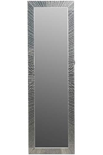 My Flair Armadietto portagioie, plastica, Specchio, Argento, 36 x 9 x 120 cm