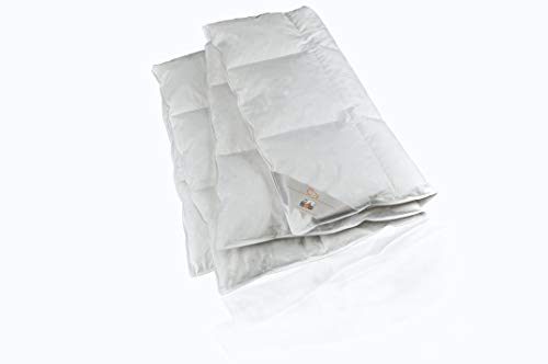 RIBECO Federbettdecke, Hülle: 100% Baumwolle, weiß, 135x200 cm