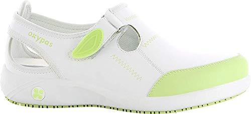 Oxypas Move Komfortabler Berufsschuh Lilia Antistatisch (ESD) in Vielen Farben (39, weiß-grün)