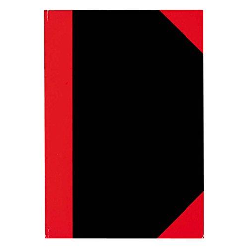 Stylex 29115 Kladde, DIN A5, kariert, schwarz/rot