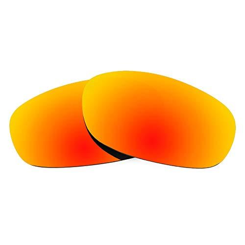 Revant Lentes de Repuesto Compatibles con Gafas de Sol Spy Optic Dirty Mo Tech, No Polarizados, Rojo Fuego MirrorShield