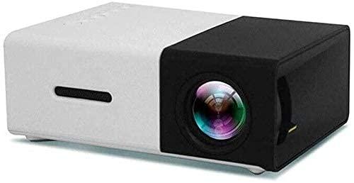 N\C ZSCC Proyector, Proyector HD Nativo 1080P Proyector de Video de 2500 lúmenes Resolución 1920x1080, Proyector portátil, Mini Cine en casa con Entretenimiento LED