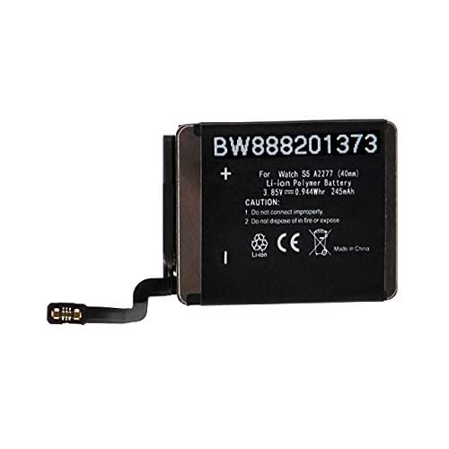 vhbw Batería Recargable Compatible con Apple Watch Series 5 40mm smartwatch, Reloj de Actividad (245 mAh, 3,85 V, polímero de Litio)