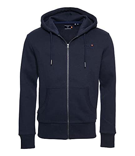Superdry Herren Ol Classic Ziphood Ns Sweater, Rich Navy, 3XL