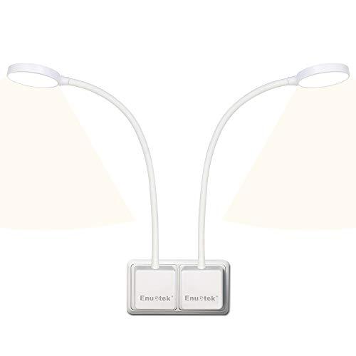 Luces Flexo Apliques de Lectura Pared LED Regulable Blanca con Enchufe Interruptor Tactil 4W 350Lm Luz Neutra 4000K para Enchufe Europeo Sin Función de Control Remoto Lot de 2 de Enuotek 🔥