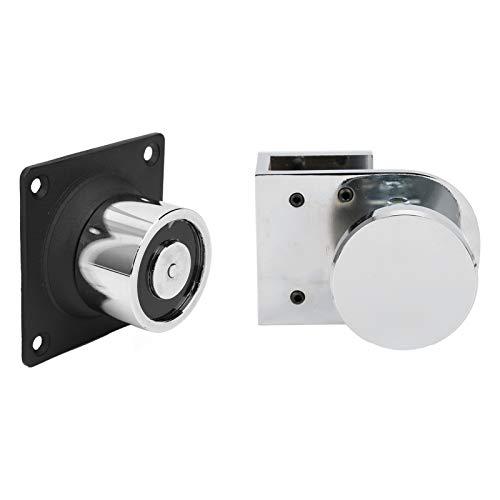 Tope de puerta, soporte de tope de puerta electromagnético, succión de 12 V / 24 V 60 kg, duradero y resistente al desgaste, para puertas de vidrio sin marco contra incendios