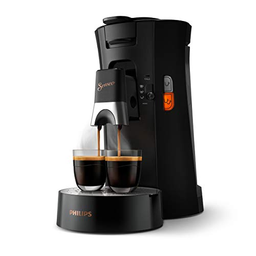 Philips Senseo Select CSA240/60 Kaffeepadmaschine mit 80 Pads (Kaffeestärkewahl Plus, Memo-Funktion, aus recyceltem Plastik), Schwarz