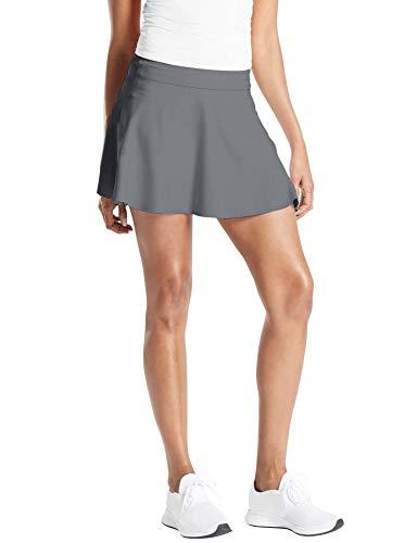 TAIPOVE Mujer Deportivo Corto Falda Plisada Skorts de Tenis Golf con Interior Shorts