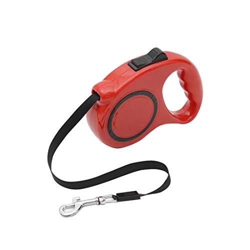Tuzi Qiuge Haustier-Leine automatisch versenkbare Hundeleine Starke Zugseil Hund Seil Hundesitter, verschleißfest (Color : Red)