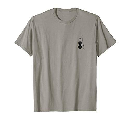 Violín (Negro Antiguo Izquierda) Violinista Camiseta