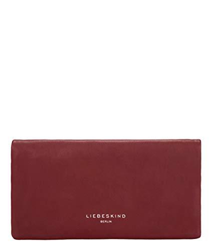 Liebeskind Berlin Pleat Wallet Geldbörse, Large (10.5 cm x 19 cm x 1cm), red wine