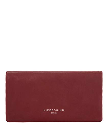 Liebeskind Berlin Pleat-Wallet Large, Accesorio de Viaje- Billetera para Mujer, Red Wine,...