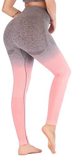 RUNNING GIRL Ombre Seamless Cute Gym Leggings...