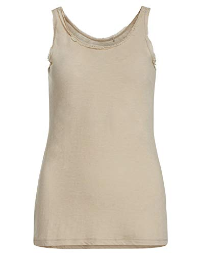 DAILY`S NOTHING`S BETTER BY S. W. B. GUILIE: Damen Top aus 100% Biobaumwolle, Color:White, Size:XL