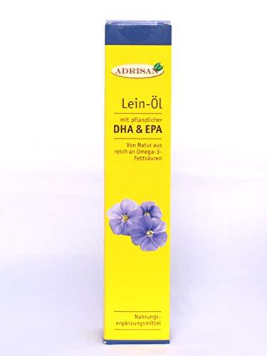 frisches DHA vegan Leinöl 250 ml mit Dosierer | Omega 3 Fettsäure DHA+EPA aus Algengewinnung