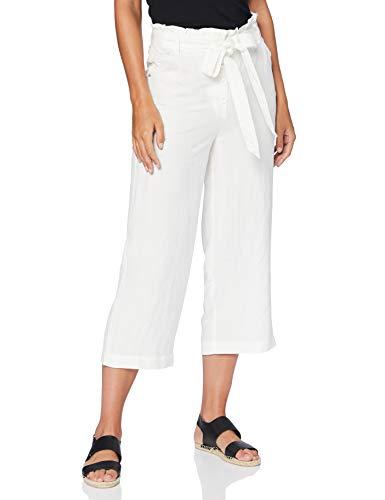 Superdry Eden Linen Trouser Pantalones, Marfil (Chalk White Fu4), 40 (Talla del Fabricante: 28) para Mujer