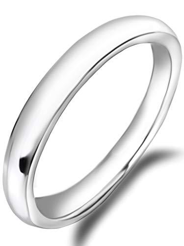 Freate 指輪 316Lサージカルステンレスリング3ミリ幅 アレルギー対応 レディース (23号)