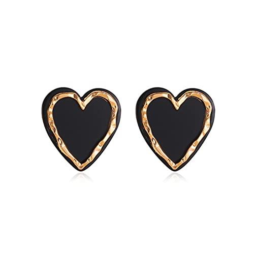 Pendientes De Plata Para Mujeres, Pendientes Elegantes De Moda Con Forma De Corazón De Mariposa Negra, Pendientes Coreanos Vintage Sun Hexagstar Para Mujer, Joyería Regalo De Cumpleaños / San Val