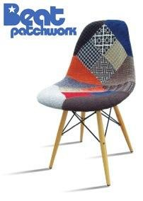 Beat Patchwork 1- Chaise rembourrée en Tissu Patchwork