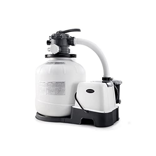 Intex 26679EG Krystal Clear 2150 GPH Pump & Saltwater Sand Filter Saltwater System, White/Black