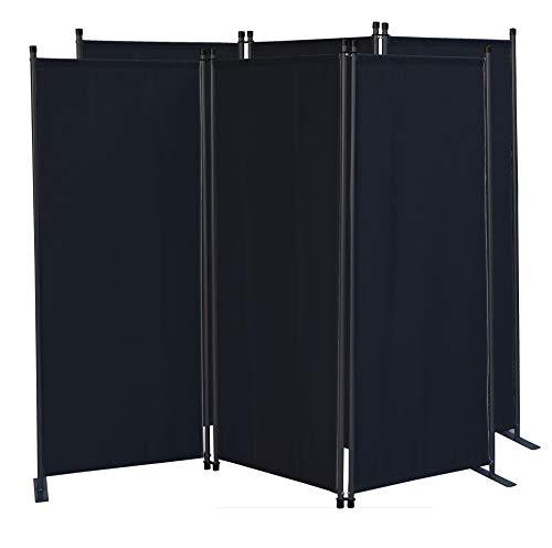 QUICK STAR 2 pièces Paravent 170 x 165 cm Séparateur de tissu Jardin en 3 parties pliable Balcon Écran de confidentialité partition Noir