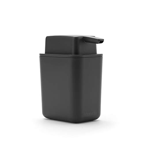 Brabantia - Dispenser di sapone, Grigio scuro, taglia unica