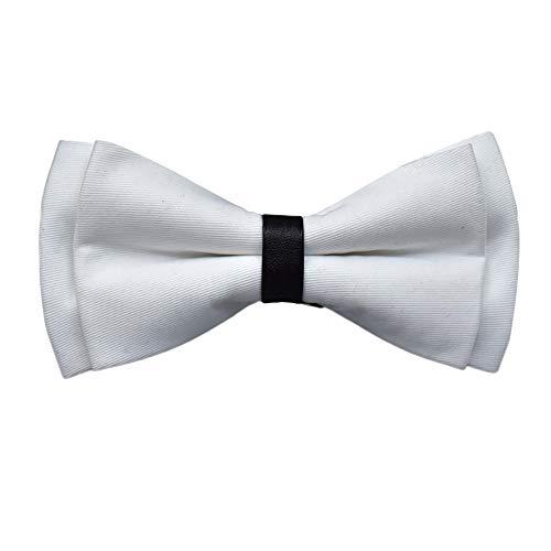 Xmiral Herren Fliege Hals Clip-on Solid Color Fancy Hochzeit Gebunden Einstellbar(L)