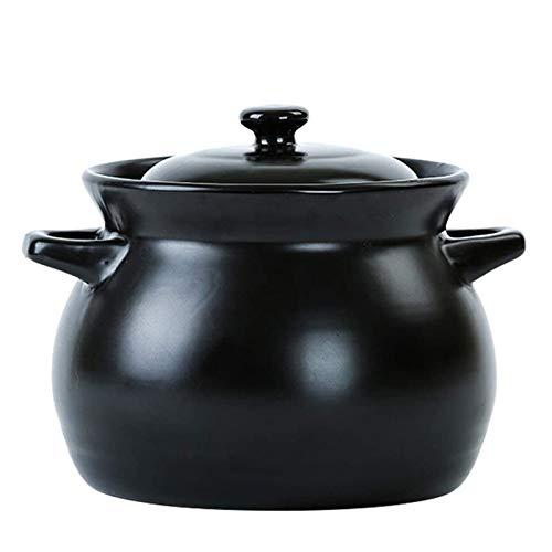 LDLL Kochtopf, Schmortopf Hohe Kapazität Suppentopf Hohe Temperaturbeständigkeit Fleischtopf Kochgeschirr