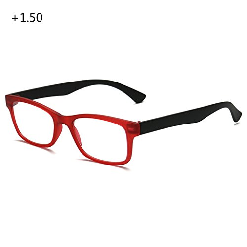 logres 1Paar Unisex Lesebrille Brille Full Frame (+ 1.0bis + 4.0Portable (# 012)
