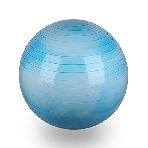 Mirando hacia atrás es la orilla Bola De Yoga De Arco Iris Vendida En Caliente, Protección Ambiental PVC Fitness Ballo De Ejercicios, Bola De Equilibrio De Yoga A PRU(Size:65cm,Color:Azul Degradado)