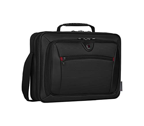 Wenger 600646 INSIGHT 16 Inch Laptop Case, Airport-Friendly Case with iPad/Tablet/eReader Pocket in Grey {10 Litre}