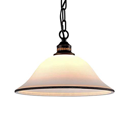RUINAIER Iluminación de Cocina para el hogar Colgante Lámpara de araña, lámpara de araña Retro de Vidrio de Hierro Forjado for Sala de Estar, Dormitorio, baño, lámpara de araña Ajustable en Pasillo