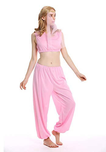 dressmeup - W-0206-M/L Costume Donna Harem Cortigiana Djinn 1001 Notte Danzatrice del Ventre Taglia M/L