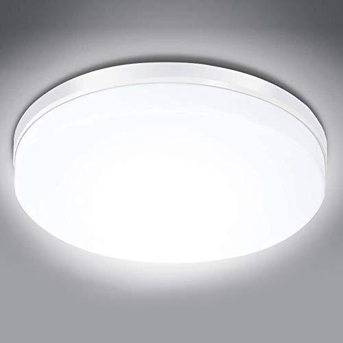 24W Redondas Luces de Techo LED 2160LM 6500K Luz Fría Iluminación de Techo de Interior para Dormitorio Oficina Estudio...